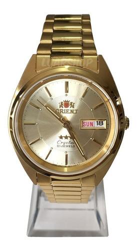 Relógio Orient Automatico Masculino Dourado - Original C/ Nf