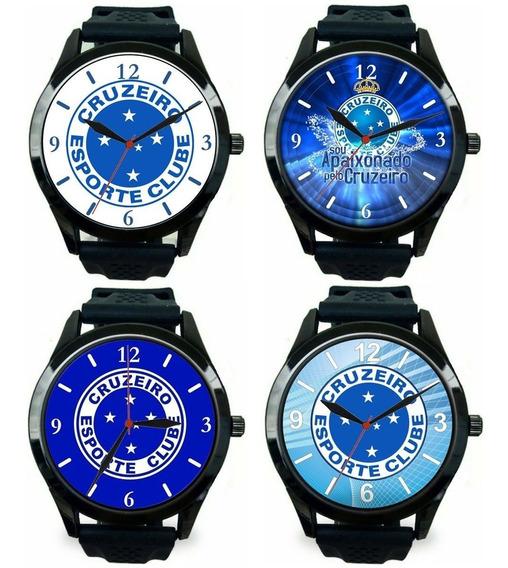 Kit 4 Relógios Pulso Esportivo Masculino Cruzeiro Barato