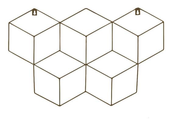 Memory Board Cubo Quadro De Fotos Marrom - 45cm X 63cm