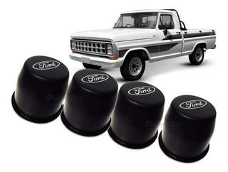 Jogo 4 Calota Centro Roda Ford F1000 1975 A 1992 Original