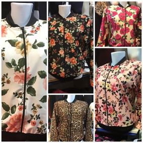 6 Jaquetas Bomber Florida Floral Feminina Estampada Moda