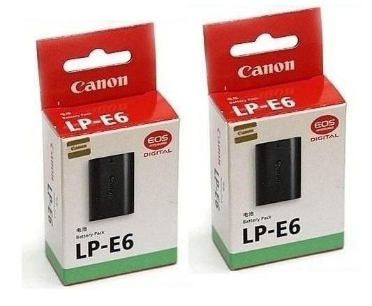 Kit 2 Baterias Para Canon Lp-e6 Eos 5d Mark Lii 60d 70d
