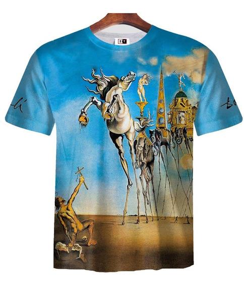 Remera Zt-0374 - Salvador Dalí 4 Tentación De San Antonio