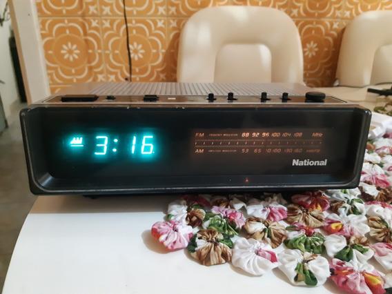 Rádio Relógio National Rc 4895 Anos 80 Fm Am P/ Revisão