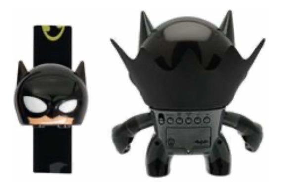 Set Reloj De Pulso Y Despertador Bulb Botz Batman