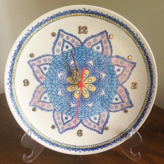 Relogio Mandala Porcelana 29cm