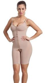 Cinta Body Modelador Redutor Compressão Macaquinho Com Perna