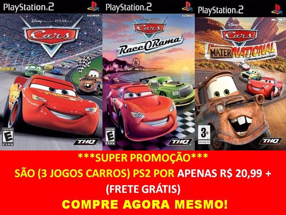 Cars Mater National Championship Play 2 (kit 3 Jogos Ps2