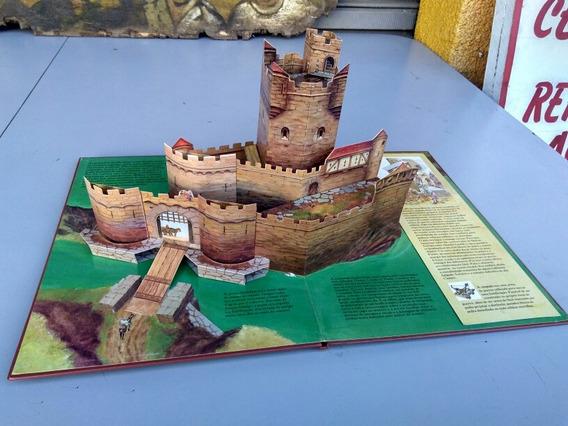 Antigo Livro Castelo Feudal Universo Em Relevo