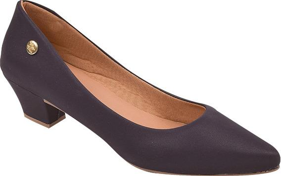 Sapato Feminino Scarpin Salto Baixo Rosa Chic Ref: 36.014