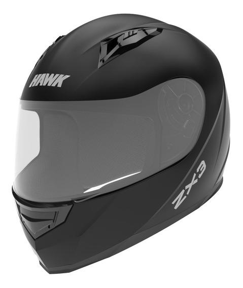 Casco Moto Hawk Zx3 Integral Negro Mate Tienda Oficial