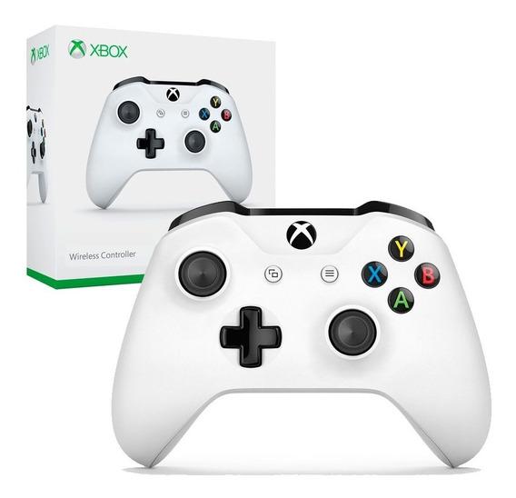 Controle Xbox One Branco Wireless Entrada P2 Microsoft + Nfe