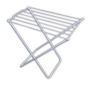 Porta Ropa Tendedero 7 Varillas Ref Pie Plegable Balcon