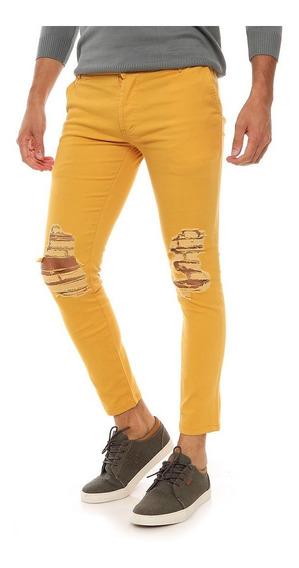 Pantalón Gabardina Hombre Con Rotura - Varios Colores!