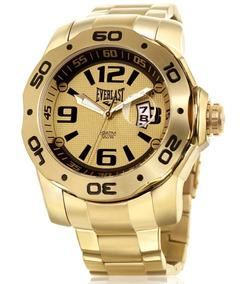 Relógio Pulso Everlast Analógico E444 Dourado Masculino