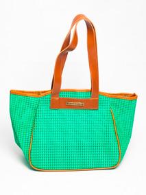 Bolsa De Praia Feminina Tela Vazada Com Design Moderno