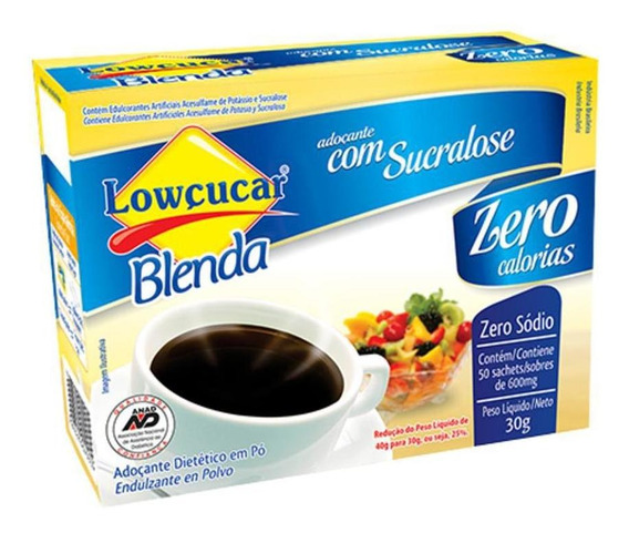 Adocante Blenda Sucralose Sache 50unx0,6gr Lowcucar