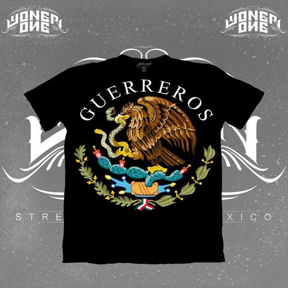 Playera Yonerone Guerreros Mexicanos Blanca