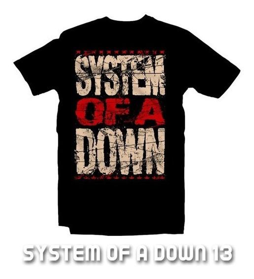 Playeras System Of A Down - 13 Diseños Disponibles