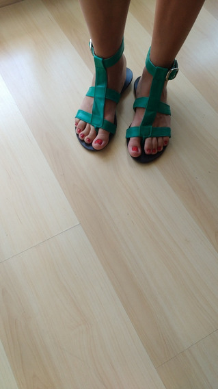 Sandalias / Chatitas Verdes Talle 36/37