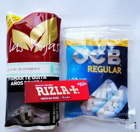 Tabaco Las Hojas 50 Grs Filtros Reg Pará Armar Cigarrillos