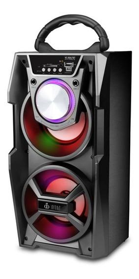Caixa De Som Portátil Bluetooth Amplificada Microfone 867