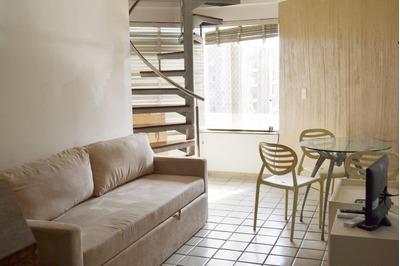 Cobertura Tipo Duplex De 2 Quartos, Vista Mar- Venda Ondina - Co0012