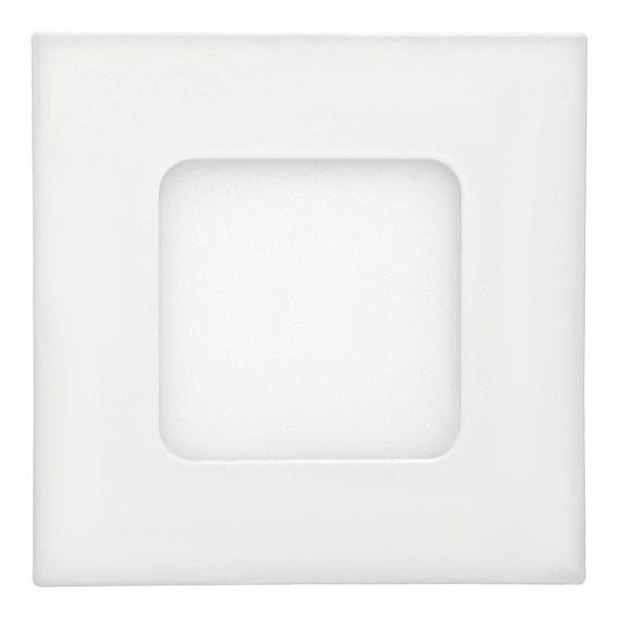 Painel Plafon Led 3w Embutir Quadrado Branco Quente