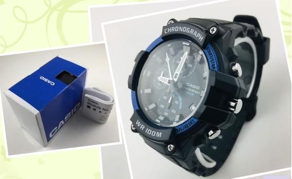 Relógio Casio Cronógrafo Heavy Duty Sports Mcw110h-2 Av