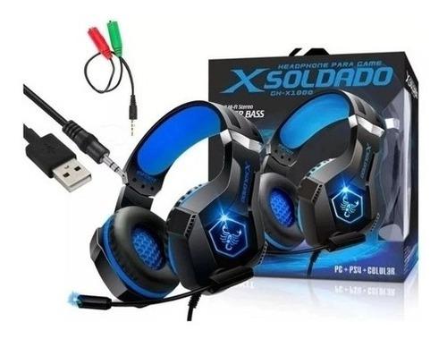 Imagem 1 de 5 de Headset Gamer Scorpion Rgb P2 + Usb Promoção