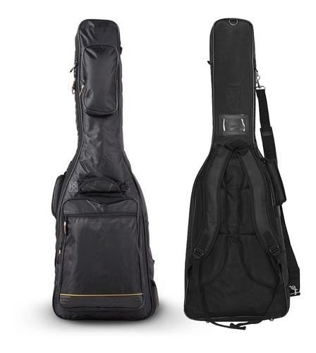 Bag Rockbag Para Guitarra Deluxe Line Preto Rb 20506 B