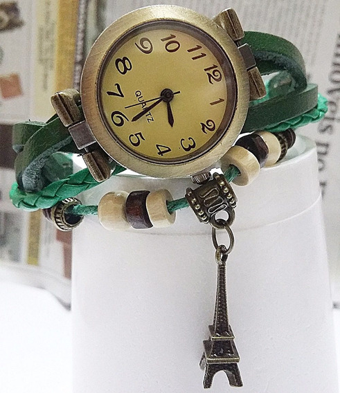 Relógios Femininos De Pulso Pingente Vintage De Couro