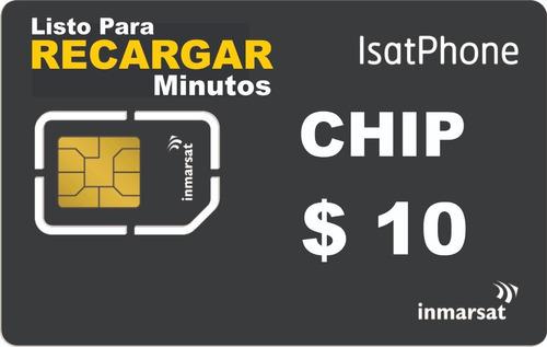 Chip Para Telefono Satelital Isatphone - Inmarsat
