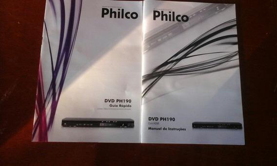 Manual De Instrução E Guia Rápido Dvd Ph 190 Philco