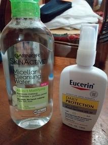 Oferta 2x1 Agua Micelar Garnier Y Protector Solar Eucerin