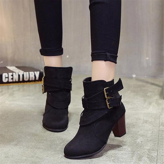 Otoño Invierno De La Moda De Las Mujeres De Tobillo Botas D