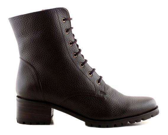 Borcego Bota Mujer Cuero Briganti Zapato Goma - Mcbo24681