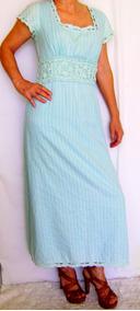 Vestido Longo Usado Tamanho M Retrô - Moda Evangélica