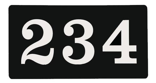 Placa Acrílico 3 Números Para Casa E Porta Apartamento