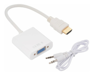 Convertidor Hdmi A Vga Cable Adaptador Conversor Pc Notebook