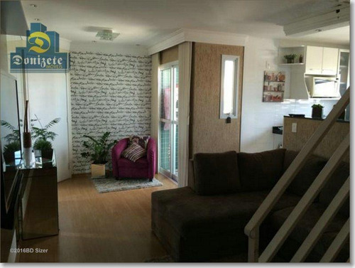 Cobertura Com 2 Dormitórios À Venda, 175 M² Por R$ 650.000,00 - Vila Bastos - Santo André/sp - Co0435