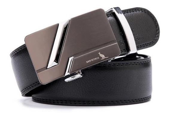 Cinturón San Vitale Hombre Elegante Cuero Alta Calidad