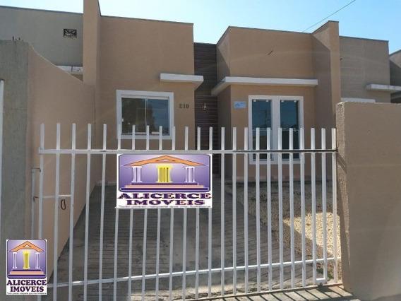 Otima Casa Com Dois Quartos No Bairro Tindiquera Em Araucária - C-687 - 33185691