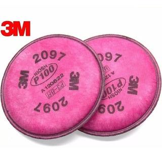 Filtros 3m 2097 P100 Para Vapores Orgánicos Y Ozono Paq 2 Pz