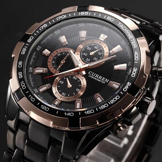 Relógio Curren Analógico 8023 Aço Inoxidável Ótima Qualidade