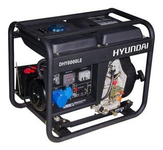 Generador Eléctrico Y Manual Hyundai Diesel 6/6,5 Kw/kva