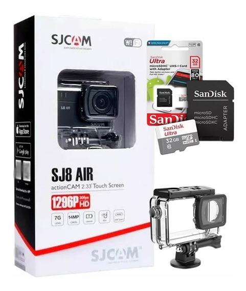 Câmera Esportiva Sjcam Sj8 Air Wifi Original Full Set + 32gb