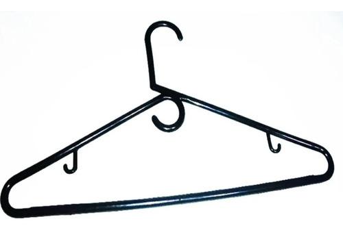 50 Ganchos Finos Plásticos Negro Colgar Ropa Closet Armario