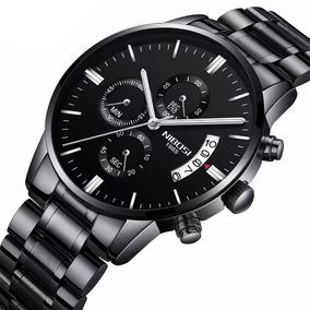 Relógio Masculino Nibosi Black Cronógrafo Funcional Original