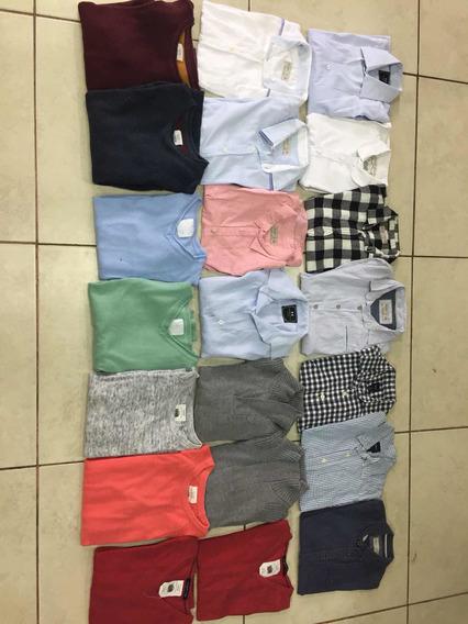 Lote 11 Camisas 10 Suéteres De Niño